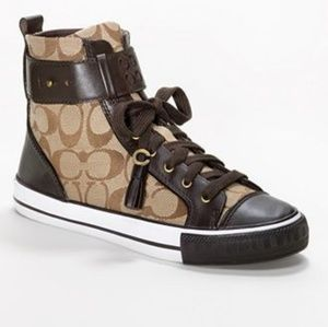 Coach Foster brown leather signature C hi tops 10